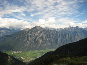 Panorama a valle dal bivacco