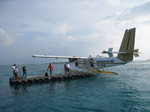 S191 (164585 byte) - The seaplane leave you on a platform offshore and a dhoni picks you up to the island
